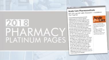 Acute Care USP 800 Profile