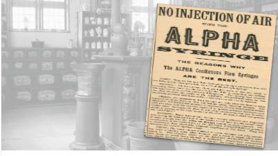 Alpha Syringe Vintage Ad
