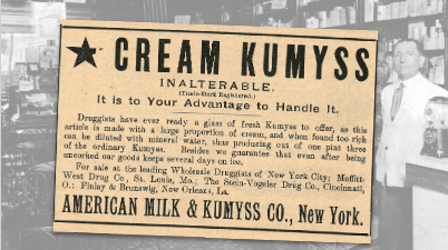 American Milk Cream Kumyss Vintage Ad