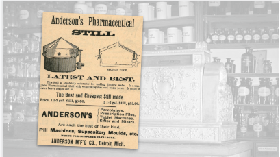 Anderson's Pharmaceutical Still Vintage Ad