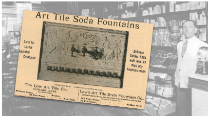 Art Tile Soda Fountain Vintage Ad