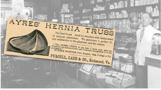 Ayers Hernia Truss Vintage Ad