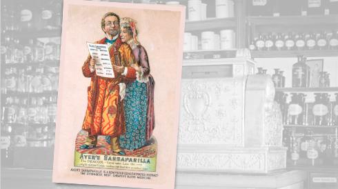 Ayer's Sarsaparilla Vintage Pharmacy Ad