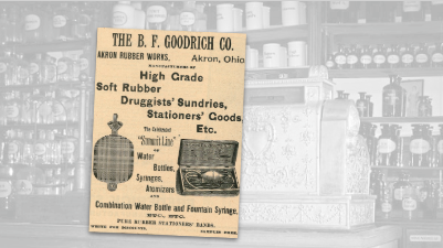 B. F. Goodrich High Grade Rubber Vintage Ad