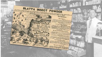 Blatta Insect Powder Vintage Ad