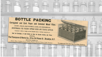 Bottle Packing Vintage Ad