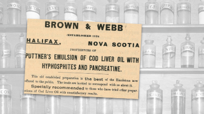 Brown & Webb Cod Liver Oil Vintage Ad