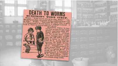 Bumstead's Worm Syrup Vintage Ad