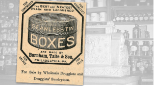 Burnham, Taite & Son Seamless Tin Boxes Ad