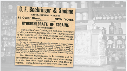 C.F. Boehringer & Soehne Hydrochlorate of Cocaine Vintage Ad