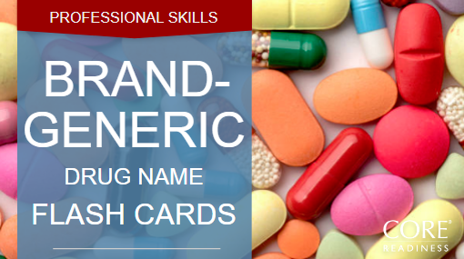 COREreadiness Brand & Generic Flashcards