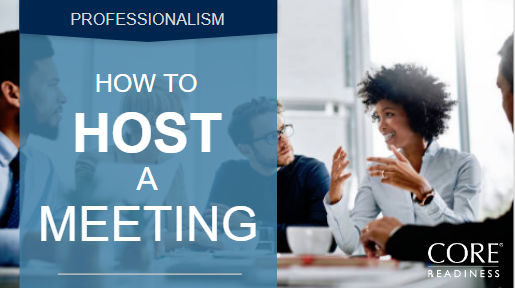 COREreadiness How to Host a Meeting