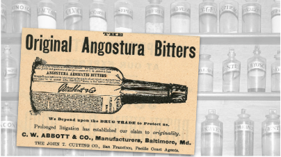 C.W. Abbott & Co. Angostura Bitters Vintage Ad