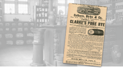 Clarke's Pure Rye Vintage Ad