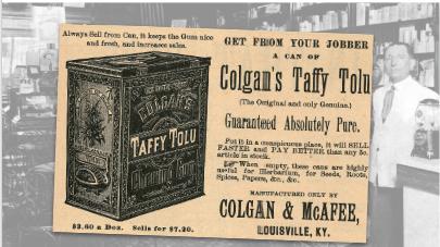 Colgan & McAfee Taffy Tolu Vintage Ad
