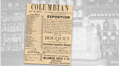 Columbian Exposition Bouquet Vintage Ad