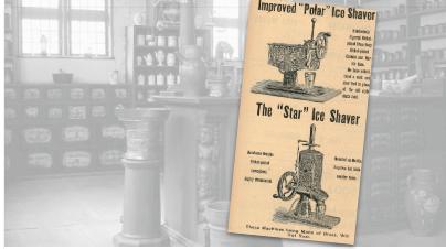 D.L. Bates & Bros Ice Shaver Vintage Ad