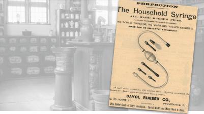 Davol  Rubber Household Syringe Vintage Ad