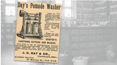 Day's Pomade Washer Vintage Ad