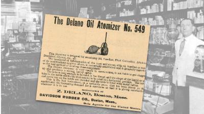 Delano Oil Atomizer Vintage Ad