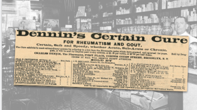 Dennin's Certain Cure Vintage Ad