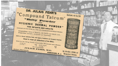 Dr. Julius Compound Talcum Vintage Ad