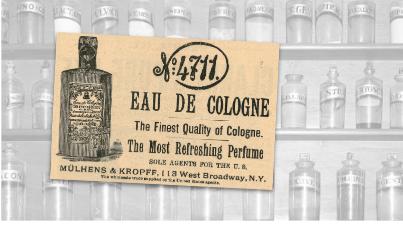 Eau de Cologne Vintage Ad