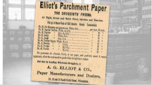 Elliot's Parchment Paper Ad