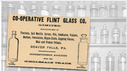 Flint Glass Co Vintage Ad