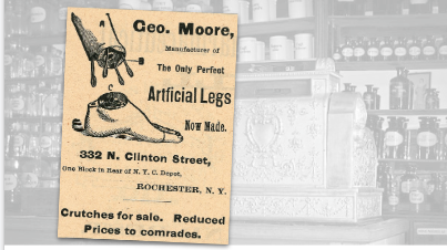 Geo. Moore Artificial Legs Vintage Pharmacy Ad