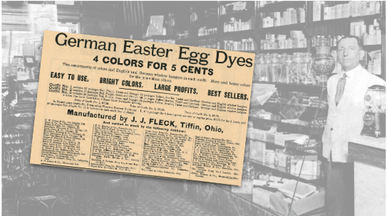German Easter Egg Dyes Vintage Ad