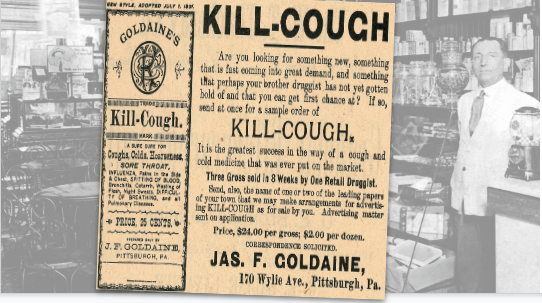 Goldaine's Kill-Cough Vintage Ad