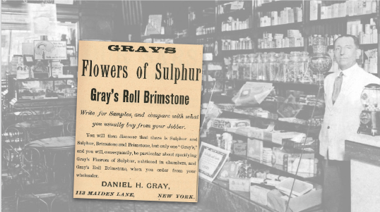 Gray's Flowers of Sulphur Vintage Ad