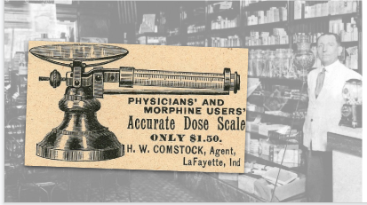 H.W. Comstock Dose Scale Vintage Ad