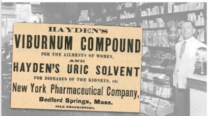 Hayden's Viburnum Compound Vintage Ad