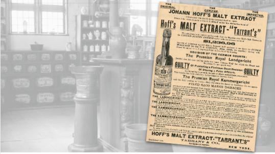 Hoff's Malt Extract Vintage Ad
