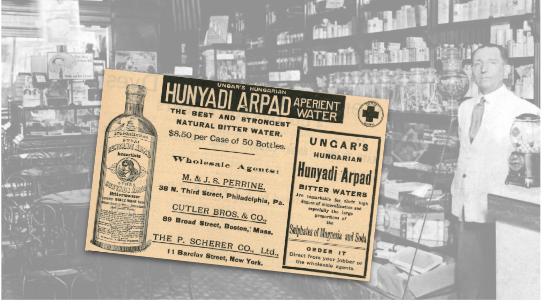 Hunyadi Arpad Aperient Water Vintage Ad