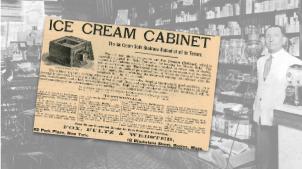 Ice Cream Cabinet Ad