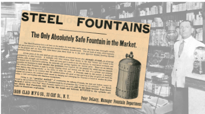 Iron Clad Steel Fountains Vintage Ad