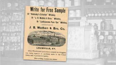 J.B. Wathen Whiskey Vintage Ad