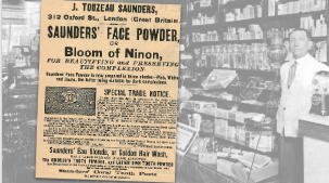J. Touzeau Vintage Face Powder Ad