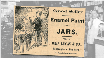 John Lucas Enamel Paint Vintage Ad