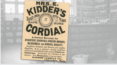 Kidder's Cordial Remedy Vintage Ad