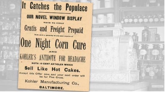 Kohler Manufacturing Vintage Ad