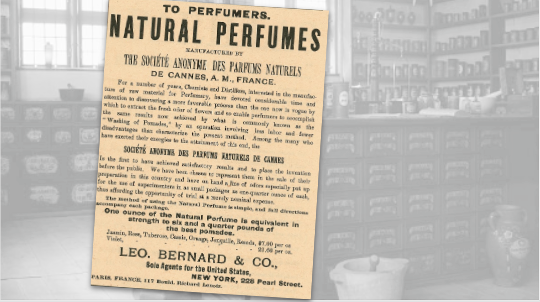 Leo. Bernard Co Natural Perfumes Vintage Ad