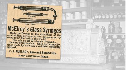 McElroy Glass Syringe Vintage Ad