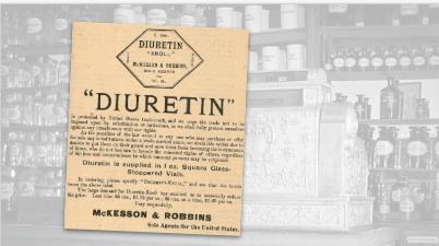 McKesson & Robbins Diuretin Vintage Ad