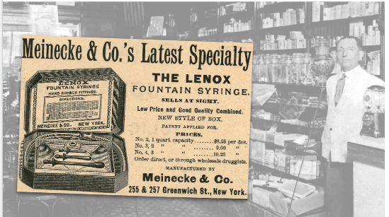 Meinecke & Co The Lenox Fountain Syringe Vintage Ad