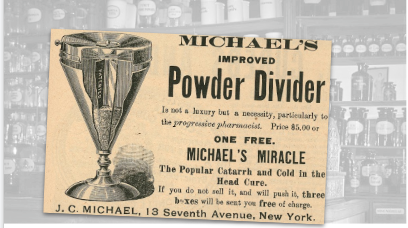Michaels Powder Divider Vintage Ad