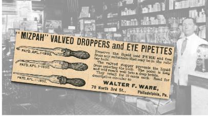 Mizpah Valved Droppers Vintage Ad